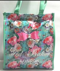 Пляжная сумка плотный силикон бирюза