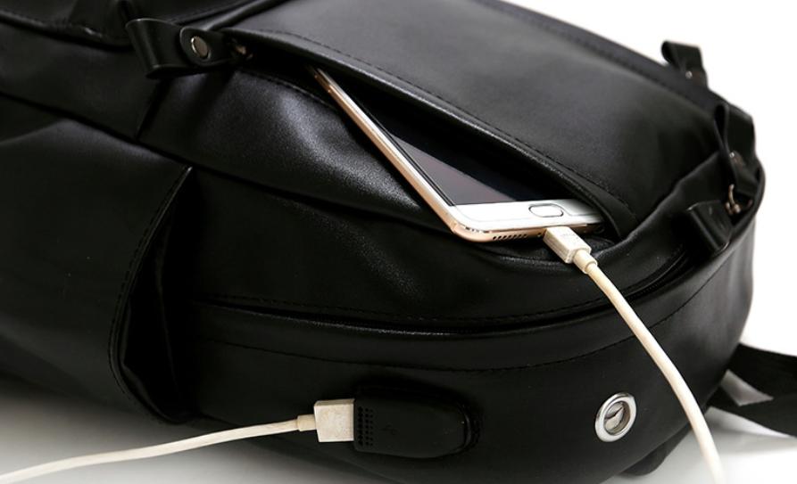 07306563a67b Рюкзак мужской кожзам городской Men's USB выход, цена 569,05 грн., купить в Белой  Церкви — Prom.ua (ID#879434286)