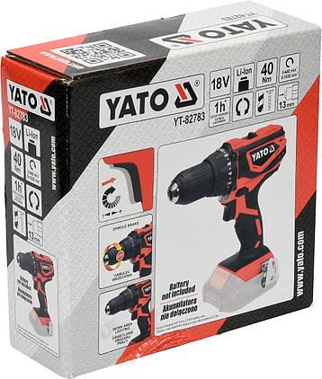 Дрель-шуруповерт аккумуляторный YATO YT-82783, фото 2