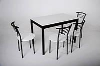 Комплект Видрис Б (Стол+4 стула) 110смх65смх75см металл черный
