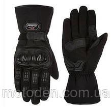 Мотоперчатки  теплые зимние водонепроницаемые MADBIKE MAD-15 черные