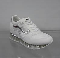 Белые модные женские кроссовки