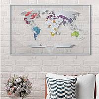 Прозрачная скретч карта мира Travel Map AIR World (английский язык)