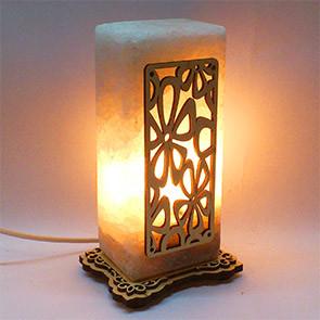 Соляной светильник Цветок прямоугольник