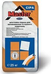 MASTER FRONT Шпаклевка цементная для выравнивания и ремонта поверхностей бел., 25 кг