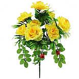 Искусственные цветы роза с ягодой, 50 см, фото 3