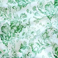 38004 Гербарий. Пэчворк ткань с набивным рисунком. Натуральные ткани для шитья и рукоделия.