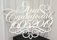Монограмма на свадьбу имена с датой