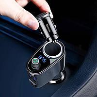 Зарядное устройство трансмитер Baseus Car Charger 2 USB 3.4A Bluetooth + FM Mod Black (BT-MP3)