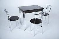 Кухонный комплект стол Тавол Ретта раскладной + 3 стула