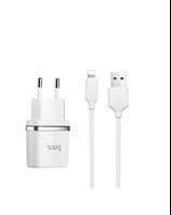 Сетевое зарядное устройство Hoco 1А с кабелем Iphone  (White)
