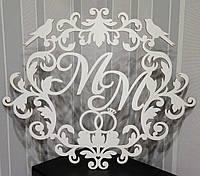 Свадебная монограмма с кольцами ММ