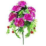 Искусственные цветы роза с ягодой, 50 см, фото 5