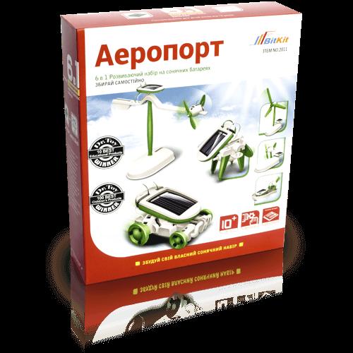 "Развивающий набор на солнечных батареях ""Аэропорт"" 6 в 1 (21-18-5 см) (BitKit)"
