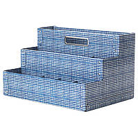 Организатор на канцелярские принадлежности IKEA FJÄLLA 35x21 см белый синий 204.323.38