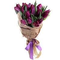 """Букет """"25 фиолетовых тюльпана"""""""