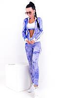 Женский  спортивный костюм-тройка  с топом