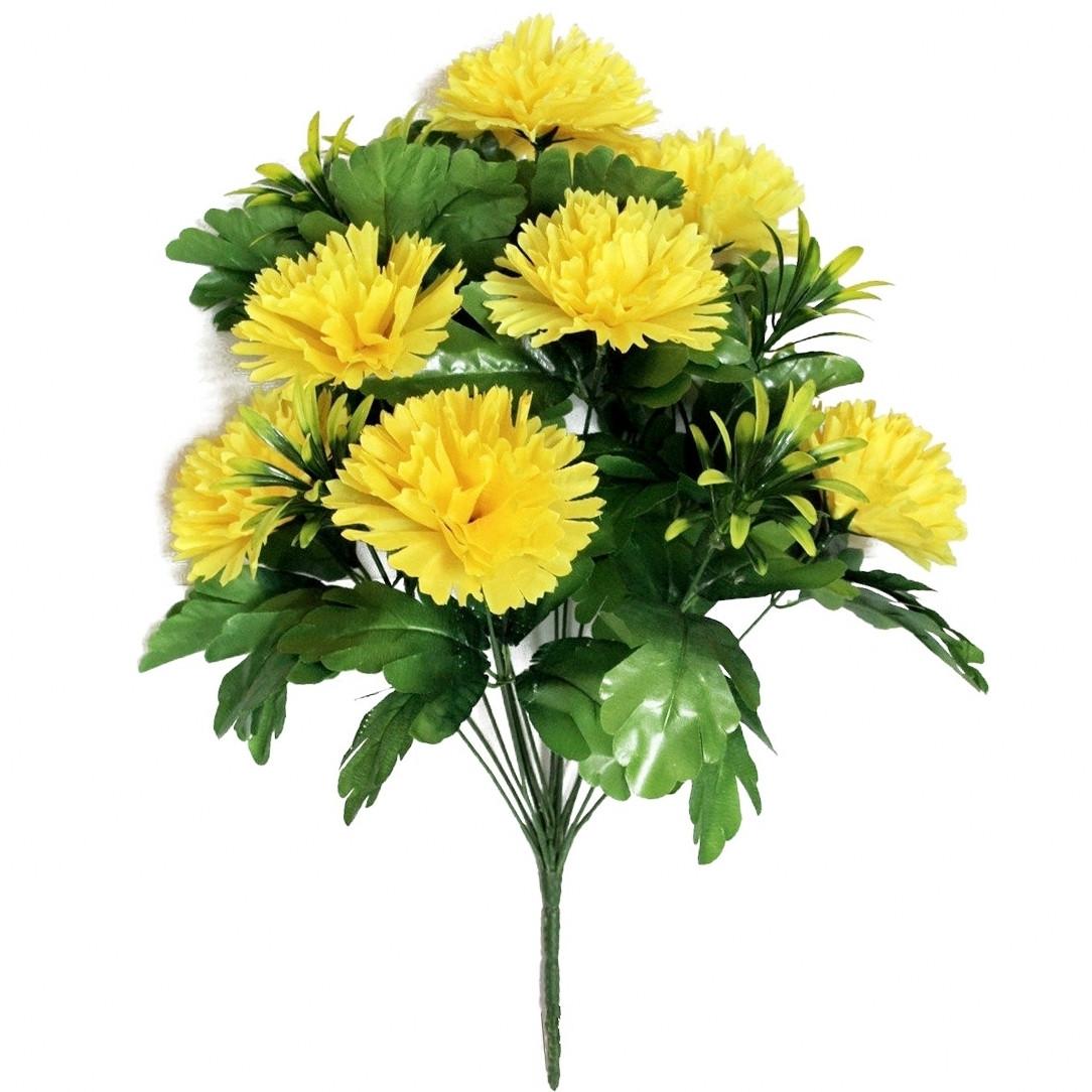 Цветы букет гвоздик, 55 см (10 шт. в уп)