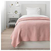 Покрывало IKEA VÅRELD 150х250 см светло-розовое 004.062.41