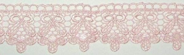 Мереживо макраме Квіти 4,5 см, рожеве