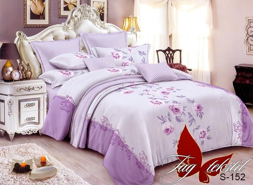 Комплект постельного белья из натурального сатина  с компаньоном