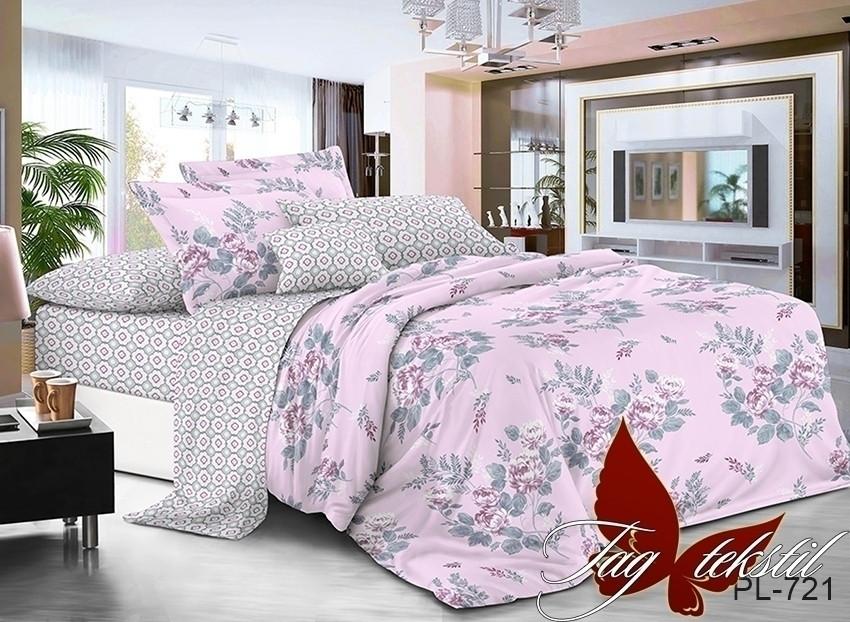 Комплект постельного белья из натурального поплина с компаньоном PL721