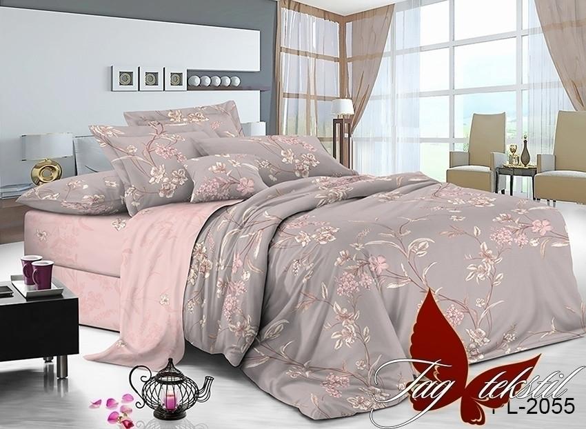 Комплект постельного белья из натурального поплина с компаньоном PL2055