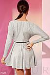 Повсякденне плаття на запах сірого кольору, фото 2