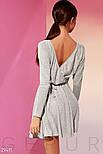 Повсякденне плаття на запах сірого кольору, фото 4
