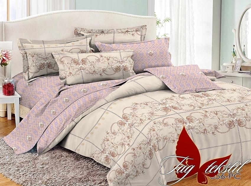 Комплект постельного белья из натурального поплина с компаньоном PC056