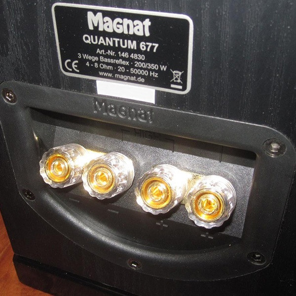 Magnat Quantum 677 Black rear terminal