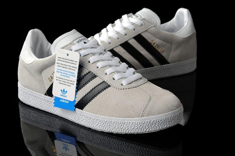 Мужские кроссовки Adidas Gazelle OG серые с черным