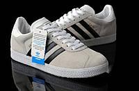Мужские кроссовки Adidas Gazelle OG серые с черным, фото 1