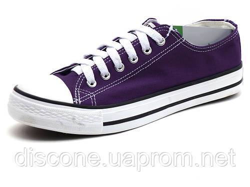 Фиолетовые кеды низкие текстиль мужские шнурок Converse