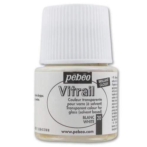 Краска витражная Пебео Vitrail Pebeo (Франция) 45 мл, белый