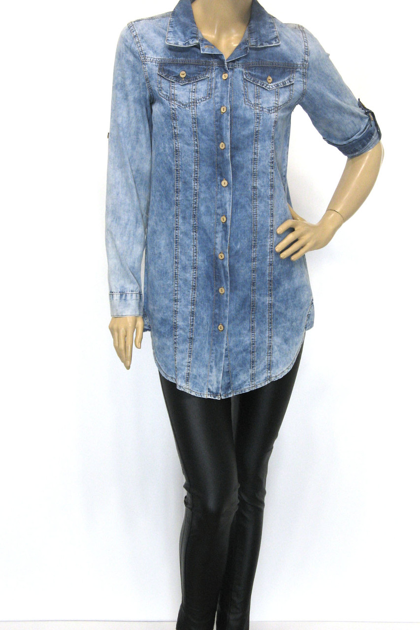 Джинсовые Рубашки, Туники