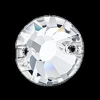 Пришивные хрустальные стразы Viva12 Preciosa (Чехия) 8 мм Crystal