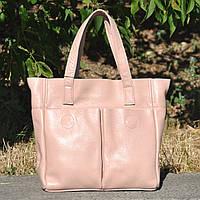 Кожаная женская сумка Палермо пудра