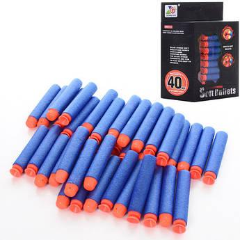 Пульки ZC08 мягкие, присоски, 40шт в кор-ке, 15,5-19-5,5см
