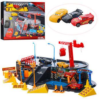 Игровой набор Трек, машинки 3шт, 6см, дорожные знаки, 44-36-7,5см