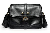 Мужская сумка черная с лямкой, фото 1