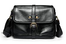 Мужская сумка малая черная с лямкой