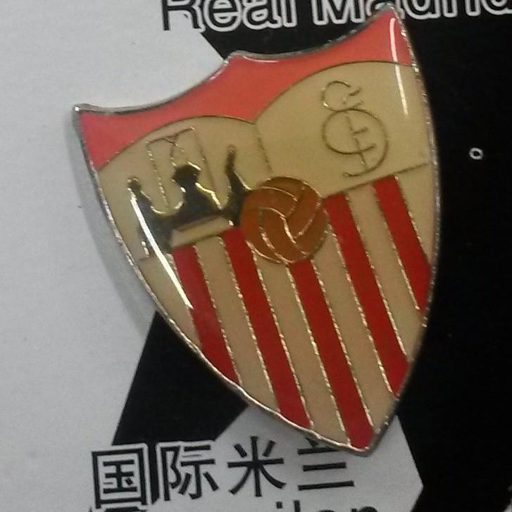 Металлический значок футбольного клуба Севилья