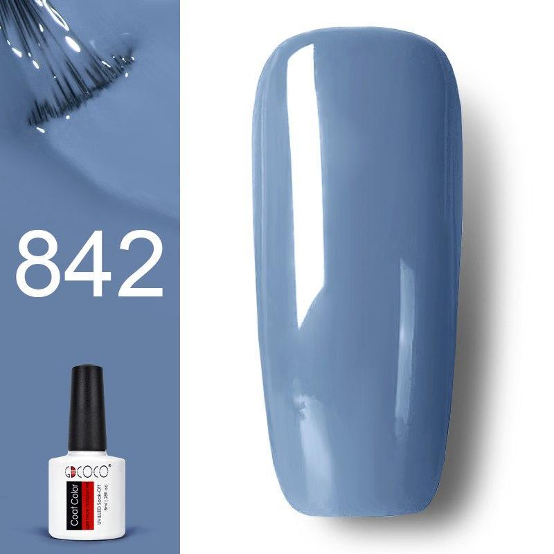 Гель лак GDCOCO 8мл. 842 - нежно голубо-серый