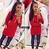 Туника-Платье женское турецкая двухнить, Карман кенгуру, Размер: 42-46 отстегивается рукав на локтях, фото 3