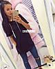 Туника-Платье женское турецкая двухнить, Карман кенгуру, Размер: 42-46 отстегивается рукав на локтях, фото 6