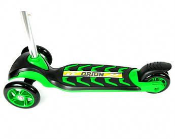 Самокат детский трехколесный +ПОДАРОК ORION 00164 (Зелёный)
