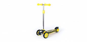 Самокат детский трехколесный +ПОДАРОК ORION 00164 (Желтый )