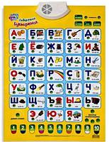 Интерактивный обучающий плакат 7002 Говорящий Букваренок рус, в кор-ке 64-44 см