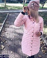 Женское стеганное пальто раз. 42-48